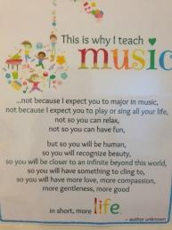 why I teach music