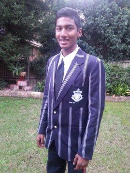 Pravin in his Full Colours Blazer awarded 2014