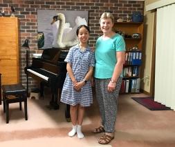Clara He and Cathy Wainwright 18 December 2018 Top Notes Music Studio